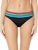 La Blanca Womens Swimwear Black Size 12 Banded Hipster Bikini Bottom $63 139