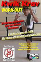 """KRAV MAGA WORKOUT"" Full Self Defense Follow along Conditioning Video, DVD"