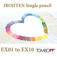 Tombow : Irojiten Single Colour Pencil EX 01 to EX 10