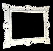 Cadre d'image Art Nouveau blanc ancien rectangulaire 45x37 baroque avec