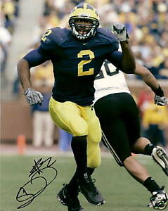 SHAWN CRABLE  MICHIGAN WOLVERINES SIGNED 8X10 PHOTO