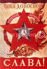 Triumphant Red Army Russian Propaganda Poster WW2 18x24