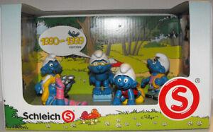 Smurfs Decade Set  of 5 Smurf Figurines 1990-1999 Edition by Schleich New 41258