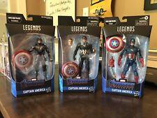 Lot Of (3) Marvel Legends Captain America Baf Action Figures Brand New Sealed