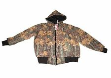 Jacket-Bomber Style W/Hood - Fall Camo Pattern - Large - Made in USA
