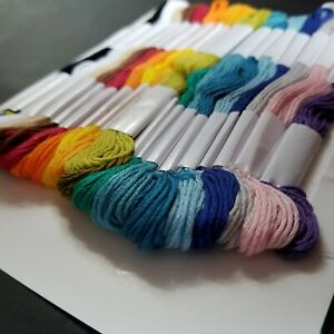 3 Hand Made Modern Craft Embroidery Floss 100% Cotton 18 Colors Skein 3 Needle