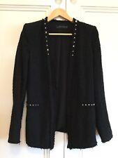 Zara Woman Size US Small Studded Black Jacket