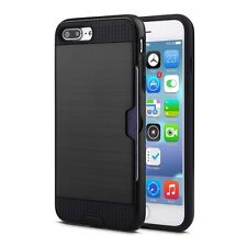 Armor Case Shockproof Card Holder Brushed Case Cover For iphone 7 6S Plus 5S