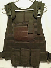 Modular Plate Carrier Vest OD Tactical Molle Lightweight Military Survival Fox