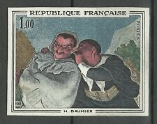 France Tableaux Daumier Crispin Scapin Painting Gemalde Non Dentele Proof **1966