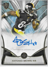 "2014 TOPPS SUPREME FOOTBALL ANTONIO BROWN GOLD AUTO SIGNATURE 49/50 ""STEELERS"""