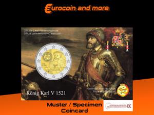 2 Euro Belgien 2021 500 Jahre Karlsgulden BU in Coincard