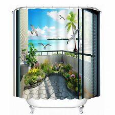 Babycare Pro 3D Bathroom Shower Curtain Beautiful Scene in the Balcony 200*180cm
