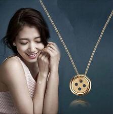 Fashion Women Jewelry Pinocchio Necklace Korean Drama Shinhye Lucky Buttons New