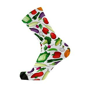 RedFoxSox I'm Vegan Bamboo Print Socks. Vegetable Socks. Funny Gifts. Food socks