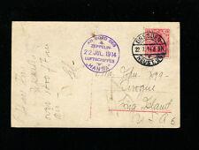 Zeppelin Sieger 5 1914 Hansa Pioneer Zep Flight  on Rare Zep Card