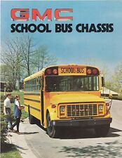 1976 GMC School Bus Chassis Two Sided Dealer Sales Brochure Sheet