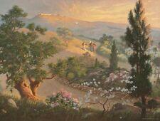 Warner Sallman ROAD TO EMMAUS 16x20 Canvas Art Print Jesus Walking Disciples
