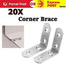 20x Stainless Steel Right Angle Bracket Corner Brace Joint Shelf Support L Shape