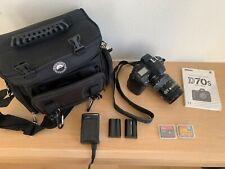 Nikon D70s 6.1MP Digital SLR Camera w/ AF Nikkor 28-85mm Lens + Camera Bag