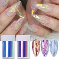 Colorful Nail Glitter Yellow Blue Glass Paper Tips Decals Nail Art Decoration