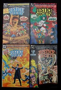 JUSTICE SOCIETY 1-4 Complete - Batman Superman Wonder Woman (DC 1985) 9.2 NM-