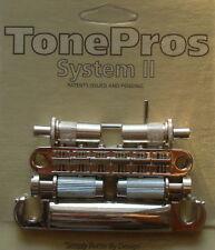 LPNM02-N TonePros Metric Bridge/Tailpiece Set, pre-notched saddles, Nickel