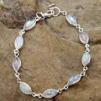 Mondstein Armband Silber 925 Sterlingsilber Tennisarmband Handschmuck Armkette t