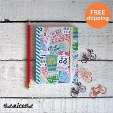 Adventure Awaits Notebook Travel Journal Explore Vintage World Notepad Holiday