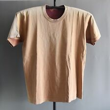 Rustic Brown Faded Blank Basic Vintage T Shirt Thrashed worn stained Thick 23x29