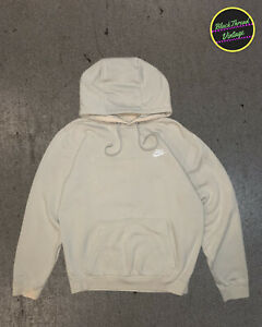 Nike Cream / Tan Hoodie Sweatshirt Pullover Logo Embroidered Swoosh Size Small S