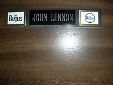 JOHN LENNON (BEATLES) NAMEPLATE FOR SIGNED PHOTO/RECORD/ALBUM
