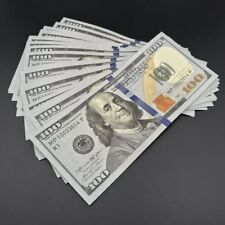 LOT of (20) Fake Prop Play Gag  20 X $100 = $2000.00 New Style Money Props