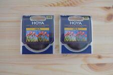 Hoya 52 mm and 58 mm circular polarizing filters lot, 1 each, new