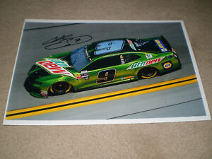 """SIGNED 2018 #9 Chase Elliott """"MT DEW"""" NASCAR Monster Cup Racing Series Photo"""