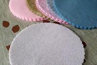 50 Tulle Voile à Dragées 22cm BLANC Effet Flocon de Neige et Paillette Nacré