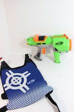Dart Tag Nerf Gun With Blue Vest -GREAT PLAY FUN!