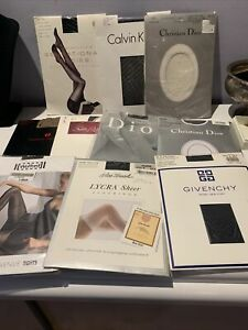 LOT X 10 ALL DESIGNER ASSORTED COLORS AND SIZES PANTYHOSE/STOCKINGS  BRAND NEW