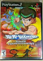 Yu Yu Hakusho Ghost Files Dark Tournament Playstation 2 PS2 CIB BLACK LABEL