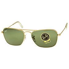 Ray-Ban Caravan Green Classic G-15 Sunglasses RB3136 001