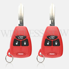 2 Car Key Fob Keyless Entry Remote Red For 2005 2006 2007 Jeep Grand Cherokee