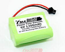 Rechargeable Battery for Model Car 80 Led Solar Light Ni-MH 6V 1200mAH SMP AA5SW