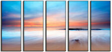 Sunset Ocean Seascape Beach Canvas Wall Art Picture Print Home and Office Decor