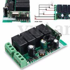 220V 10A 433MHz 4 Canali Relè Wireless RF Relay Telecomando Switch Ricevitore