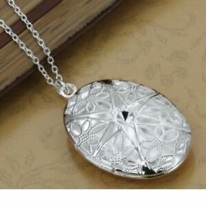 925 Silber XL Medallion Anhänger Fotos Medaillon Amulett Talisman aufklappbar