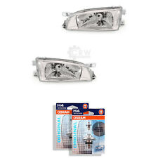 Headlight Set for Subaru Impreza Year 98-00 Clear Glass Chrome H4 Incl. Lamps