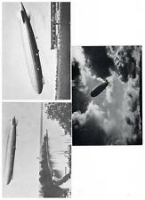 German Postcard Zeppelin 4 different Cards Unused Great condition