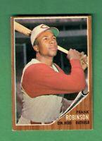 1962 TOPPS #350 FRANK ROBINSON HALL OF FAME CINCINNATI REDS EX+