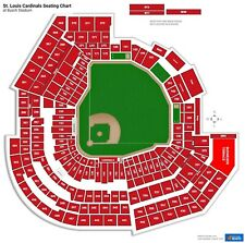 4 Tickets 6/26/21 Pirates @ Cardinals Left Field Box Section 163B