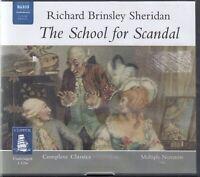 Richard Brinsley Sheridan The School For Scandal 2CD Audio Book Unabridged Drama